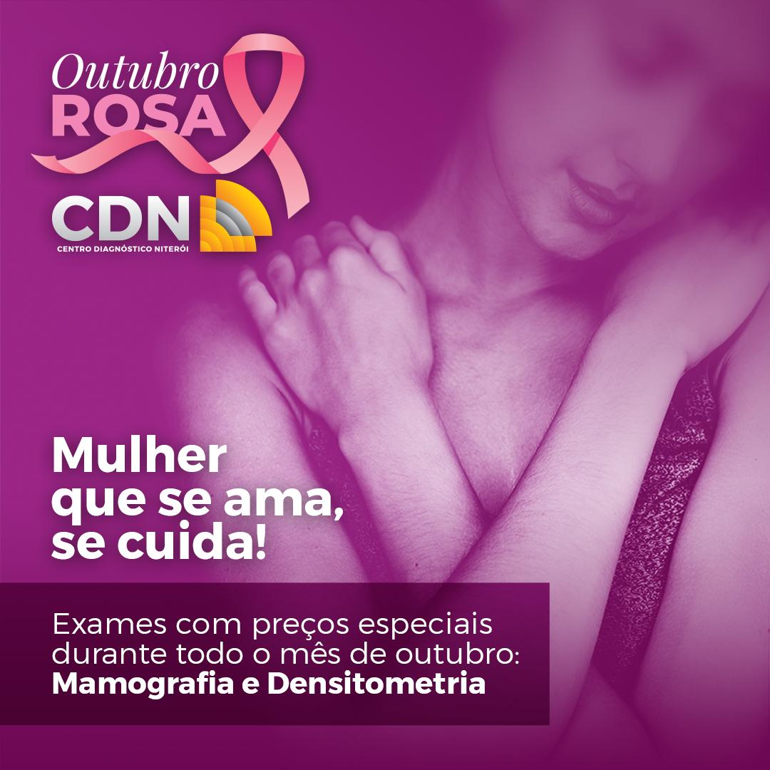 Outubro Rosa CDN – preços especiais para Mamografia e Densitometria